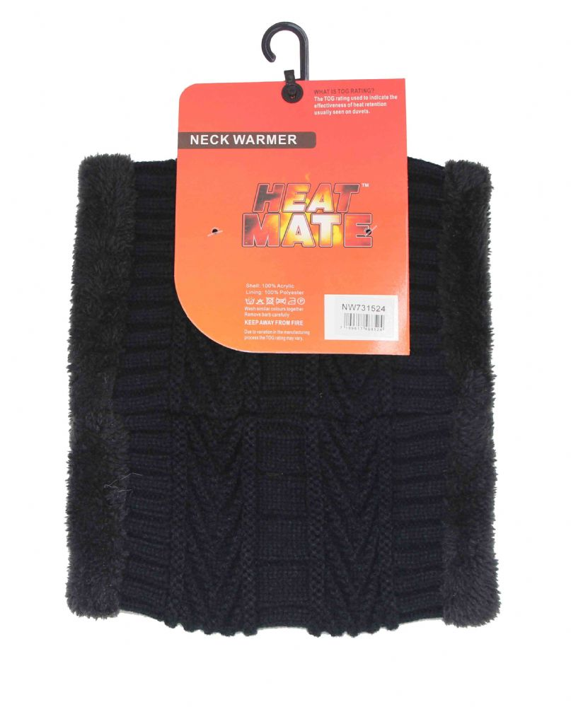 Black Furr inside Neck warmer NW731524